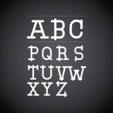 Alphabet written on chalk board design Royalty Free Stock Images