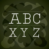 Alphabet written on chalk board design. Vector illustration eps10 graphic Royalty Free Illustration