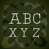 Alphabet written on chalk board design Stock Image