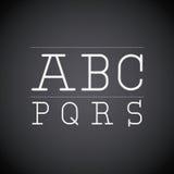 Alphabet written on chalk board design Stock Photo
