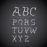 Alphabet written on chalk board design. Vector illustration eps10 graphic Vector Illustration