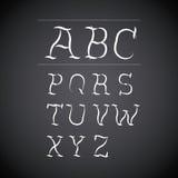 Alphabet written on chalk board design Royalty Free Stock Image