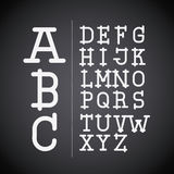Alphabet written on chalk board design. Vector illustration eps10 graphic Stock Illustration