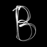 Alphabet written with lamp. Letter B Royalty Free Stock Image