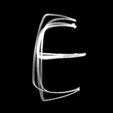Alphabet written with lamp. Letter E Royalty Free Stock Images