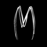 Alphabet written with lamp. Letter M. The letter M - written with light at night Vector Illustration