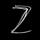 Alphabet written with lamp. Letter Z Stock Photos