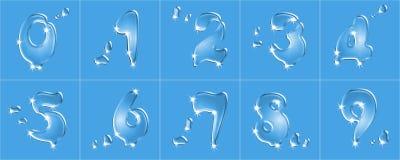 Alphabet XXL de l'eau Photographie stock