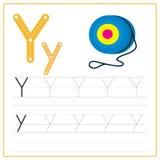 Alphabet Y de carte d'écriture Photographie stock libre de droits