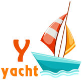 Alphabet Y mit Yacht Lizenzfreie Stockbilder