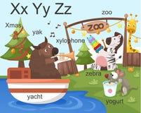 Alphabet.X Y Z royalty ilustracja