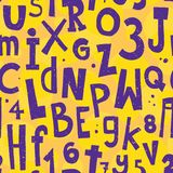 Alphabet yellow pattern Stock Images