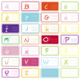 Alphabet A-Z vektor abbildung