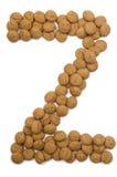 Alphabet Z de noix de gingembre Images libres de droits