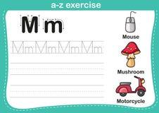 Alphabet a-z exercise Stock Photography