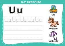 Alphabet a-z exercise Stock Photos
