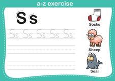 Alphabet a-z exercise Royalty Free Stock Photo