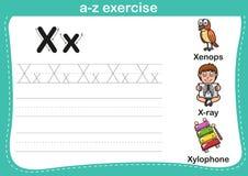 Alphabet a-z exercise Stock Image