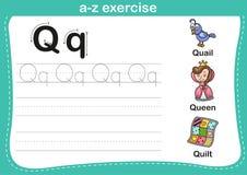 Alphabet a-z exercise Stock Photo