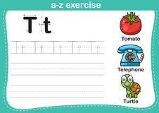 Alphabet a-z exercise Royalty Free Stock Image
