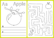 Alphabet A-Z - puzzle Worksheet, Exercises for kids - Coloring book Royalty Free Stock Photos