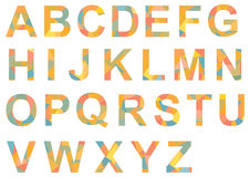 Alphabet A-Z, single letters colorful patterned Stock Photography