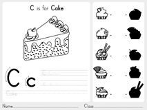 Alphabet A-Z Tracing et fiche de travail de puzzle, exercices pour des enfants - livre de coloriage Photos stock