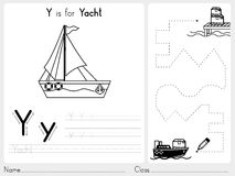 Alphabet A-Z Tracing and puzzle Worksheet,  Exercises for kids - Coloring book Stock Photography