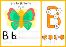 Alphabet A-Z Tracing and puzzle Worksheet,  Exercises for kids - illustration and vector. A4 paper ready to print Stock Image