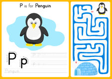 Alphabet A-Z Tracing and puzzle Worksheet,  Exercises for kids - illustration and vector Stock Photo