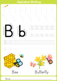 Alphabet A-Z Tracing Worksheet,  Exercises for kids - A4 paper ready to print Stock Photos