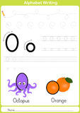 Alphabet A-Z Tracing Worksheet,  Exercises for kids - A4 paper ready to print Royalty Free Stock Photos