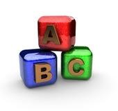 Alphabetblöcke gebildet in 3d Lizenzfreies Stockfoto