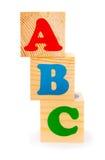 Alphabetbuchstabe ABC-Blöcke Stockbilder