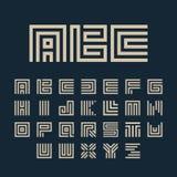 Alphabetbuchstaben des geometrischen Vektors weiße Farbeingestellt Stockbilder