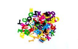 Alphabetbuchstaben lernen für Anfänger Englisch Stockfotografie