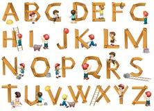 Alphabete Stockfoto