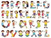Alphabete in den Kindaktivitäten Stockfotos