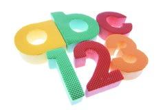 Alphabete und Zahlen Lizenzfreie Stockbilder
