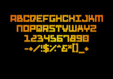 Alphabetfarbart Lizenzfreies Stockbild