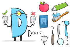 Alphabeth occupation - Letter D - Dentist Royalty Free Stock Photography