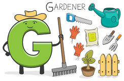 Alphabeth occupation - Letter G - Gardener Stock Image