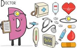 Alphabeth ockupation - bokstav D - doktor stock illustrationer