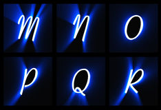 Alphabetic characters Stock Photo