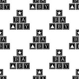 Alphabetic cubes icon. Element of baby icon for mobile concept and web apps. Pattern repeat seamless alphabetic cubes icon. Can be. Used for web on white Stock Photos