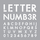 Alphabetic font and number Stock Image