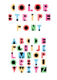 Alphabetic fonts Stock Image
