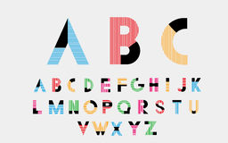 Alphabetic fonts Royalty Free Stock Photos