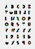 Alphabetic fonts Stock Images