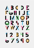 Alphabetic fonts Stock Photography